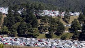 Pátio de carros em fábrica da Volkswagen em São Bernardo do Campo em 20 de agosto de 2014. Paulo Whitaker (BRAZIL - Tags: POLITICS BUSINESS TRANSPORT)