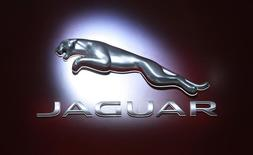 The Jaguar logo is seen during the 2012 New York International Auto Show at the Javits Center in New York, April 5, 2012. REUTERS/Allison Joyce