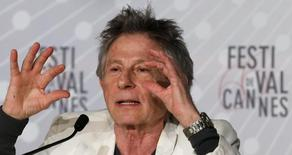 "Director Roman Polanski gestures as he speaks during a news conference for the film ""La Venus a la Fourrure"" (Venus in Fur) at the 66th Cannes Film Festival in Cannes May 25, 2013.    REUTERS/Jean-Paul Pelissier"