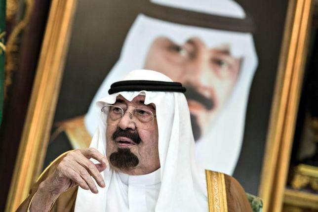 1月23日、サウジアラビア国営テレビは朝、アブドラ国王(写真)が死去したと発表した。新国王にはサルマン皇太子が即位した。2014年9月撮影(2015年 ロイター/Brendan Smialowski/Pool)
