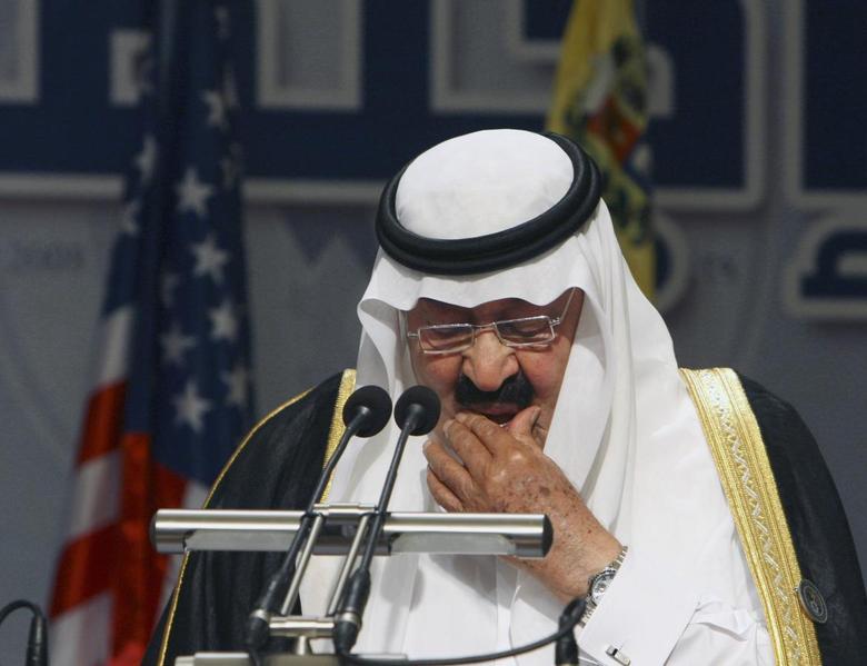 Saudi Arabia's King Abdullah bin Abdulaziz addresses the Jeddah Energy Meeting in this June 22, 2008 file photo. REUTERS/Ali Jarekji/Files