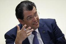 Ministro de Minas e Energia, Eduardo Braga, durante entrevista à Reuters.  21/1/2015 REUTERS/Ueslei Marcelino