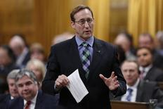 Canada's Justice Minister Peter MacKay speaks during Question Period in the House of Commons on Parliament Hill in Ottawa February 4, 2015. REUTERS/Chris Wattie