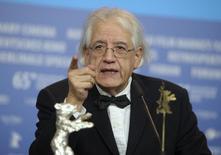 Diretor Patricio Guzmán concede entrevista em Berlim. 14/02/2015.         REUTERS/Stefanie Loos