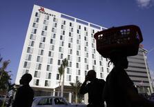 À Port-au-Prince. Le groupe hôtelier américain Marriott se fixe pour objectif de doubler le nombre de ses hôtels en Europe d'ici 2020, une croissance qui devrait s'appuyer notamment sur l'enseigne à bas prix Moxy. /Photo prise le 24 février 2015/REUTERS/Andres Martinez Casares