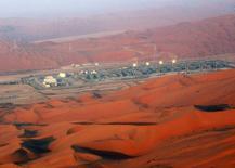 Нефтяное месторождение в Саудовской Аравии. 14 ноября 2007 года. Крупнейший экспортер ОПЕК Саудовская Аравия повысила официальные цены продажи нефти для Азии и США, показав, что видит признаки роста потребления. REUTERS/ Ali Jarekji