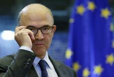 L'effort de réformes de la France est indéniable mais n'est pas suffisant pour réduire les déséquilibres de l'économie, estime le commissaire européen à l'Économie, Pierre Moscovici. /Photo prise le 2 octobre 2014/REUTERS/François Lenoir
