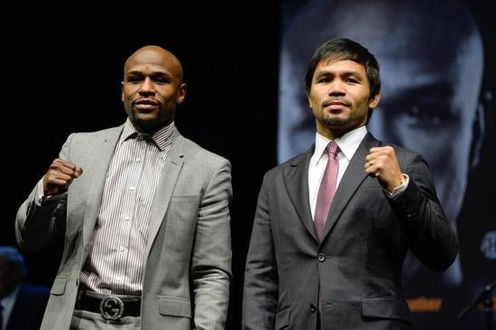ボクシング=パッキャオとメイウェザー、会見で「世紀の決戦」PR