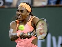 Serena Williams (USA) during her match against Monica Niculescu (ROU) at the BNP Paribas Open at the Indian Wells Tennis Garden. Mandatory Credit: Jayne Kamin-Oncea-USA TODAY Sports