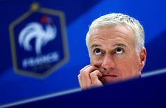 Técnico da seleção francesa Deschamps concede entrevista em Marseille. 17/11/2014.   REUTERS/Jean-Paul Pelissier