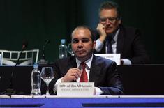FIFA Vice President Prince Ali bin al-Hussein of Jordan attends the CONMEBOL ordinary congress in Luque March 4, 2015.   REUTERS/Jorge Adorno