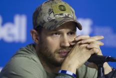 "Ator Tom Hardy, que participa do filme ""Child 44"", durante entrevista em Toronto. 06/09/2014.   REUTERS/Fred Thornhill"