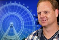 Aerialist Nik Wallenda listens to question about the plans for his next feat at the Orlando Eye during a press conference in New York April 13, 2015. REUTERS/Shannon Stapleton