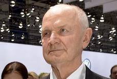 Ferdinand Piech, chairman of the supervisory board of  German carmaker Volkswagen, arrives at the annual shareholders meeting in Hanover in this April 25, 2013 file photo. REUTERS/Fabian Bimmer/Files