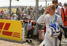 File photo of Williams Formula One driver Susie Wolff of Britain after her car broke down during first practice ahead of the British Grand Prix at the Silverstone Race Circuit, central England, July 4, 2014. REUTERS/Phil Noble