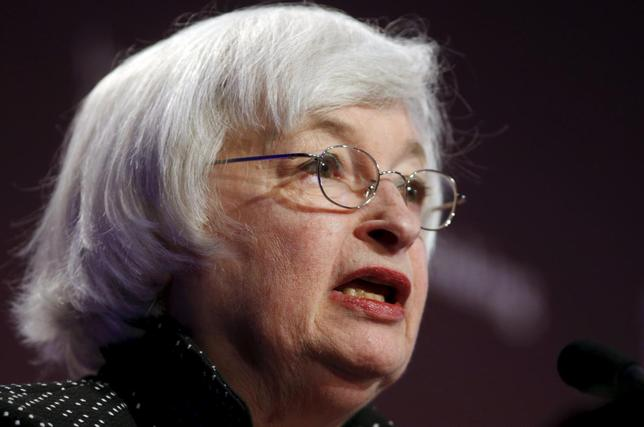Federal Reserve Chair Janet Yellen addresses the Institute for New Economic Thinking Conference on Finance and Society at the IMF in Washington May 6, 2015. REUTERS/Kevin Lamarque