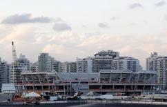 Construção da arena de tênis para Jogos do Rio. 7/5/2015. REUTERS/Sergio Moraes