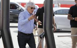 Formula One supremo Bernie Ecclestone arrives ahead of Bahrain's F1 Grand Prix at Bahrain International Circuit south of Manama, April 16, 2015. REUTERS/Hamad I Mohammed
