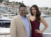 "Director Sanjay Gupta (L) and actress Aishwarya Rai Bachchan pose during a photocall for the film ""Jazbaa"" at the 68th Cannes Film Festival in Cannes, southern France, May 19, 2015. REUTERS/Yves Herman"
