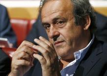 Presidente da Uefa, Michel Platini, em foto de arquivo. 24/04/2015 REUTERS/Denis Balibouse