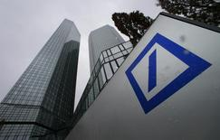 The headquarters of Deutsche Bank are pictured in Frankfurt January 29, 2015.    REUTERS/Ralph Orlowski