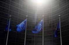 Bandeiras da União Europeia, em Bruxelas.  04/06/2015   REUTERS/Francois Lenoir