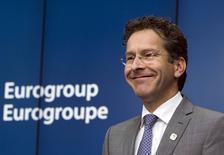 Presidente do Eurogrupo, Jeroen Dijsselbloem, durante entrevista coletiva na Bélgica.   22/06/2015   REUTERS/Yves Herman