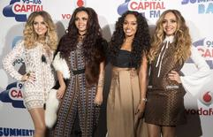Integrantes da banda pop britânica Little Mix posam para foto no estádio de Wembley, em Londres. 06/06/2015 REUTERS/Neil Hall