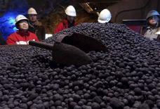Pelotas de minério de ferro em Kiruna, na Suécia.  08/04/2015   REUTERS/Balazs Koranyi