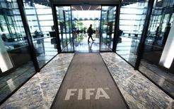 Entrada de prédio da Fifa em Zurique. 20/07/2015   REUTERS/Arnd Wiegmann