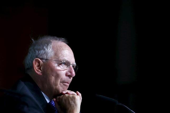 German Finance Minister Wolfgang Schaeuble pauses during a Bundesbank banking congress in Frankfurt, Germany, July 9, 2015.   REUTERS/Ralph Orlowski
