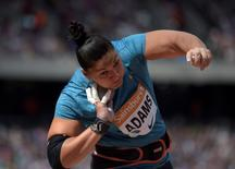 Jul 25, 2015; London, United Kingdom; Valerie Adams (NZL) places second in the womens shot put at 61-0 (18.59m) during the 2015 Sainsbury's Anniversary Games at Olympic Stadium at Queen Elizabeth Olympic Park. Kirby Lee-USA TODAY Sports