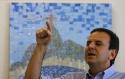 Prefeito do Rio de Janeiro, Eduardo Paes, em entrevista à Reuters. 04/08/2015 REUTERS/Ricardo Moraes