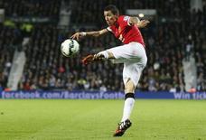 Ángel Di María durante partida do Manchester United, na Inglaterra.  20/10/2014   REUTERS/Stefan Wermuth