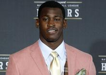 San Francisco 49ers Aldon Smith arrives for the Inaugural National Football League Honors in Indianapolis, Indiana, in this file photo taken February 4, 2012. REUTERS/Mike Segar/Files