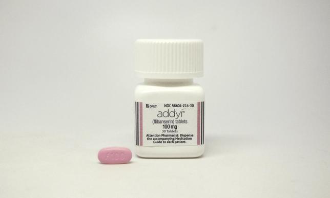 8月18日、米FDAは、女性の性的欲求低下障害を治療する初の薬剤を条件付きで承認した。提供写真(2015年 ロイター/Sprout Pharmaceuticals)