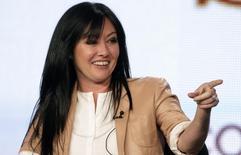 Atriz Shannen Doherty em Pasadena, na Califórnia, Estados Unidos. 14/01/2012 REUTERS/Jonathan Alcorn