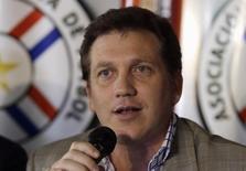 Presidente da Associação Paraguaia de Futebol, Alejandro Domínguez, em Assunção. 4/12/2014 REUTERS/Jorge Adorno