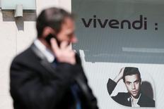 Vivendi, qui a pris des mesures lui permettant d'augmenter sa participation dans Telecom Italia pour la faire passer de 15,5% à 19%., est l'une des valeurs à suivre vendredi à la Bourse de Paris. /Photo d'archives/REUTERS/Gonzalo Fuentes