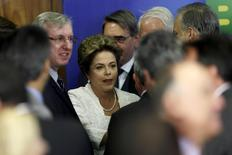 Presidente Dilma Rousseff após anunciar reforma ministerial no Palácio do Planalto, em Brasília. 02/10/2015 REUTERS/Ueslei Marcelino