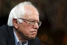 Bernie Sanders, candidato do Partido Democrata à Presidência dos Estados Unidos, durante evento em Chicago.  28/09/2015   REUTERS/Jim Young