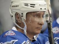 Russian President Vladimir Putin takes part in a gala game opening a new season of the Night Ice Hockey League in Sochi, Russia, October 7, 2015. REUTERS/Aleksey Nikolskyi/RIA Novosti/Kremlin