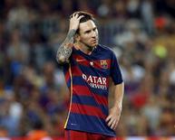 Messi, em partida no Camp Nou em Barcelona. 17/8/2015 REUTERS/Albert Gea