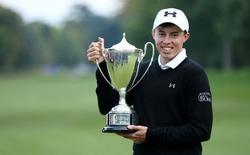 Golf - The British Masters - Woburn Golf Club - 11/10/15 England's Matthew Fitzpatrick celebrates with the trophy after winning The British Masters Mandatory Credit: Action Images / Alex Morton Livepic