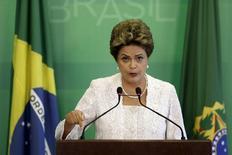 Presidente Dilma Rousseff no Palácio do Planalto, em Brasília. 02/10/2015 REUTERS/Ueslei Marcelino