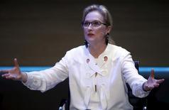 Atriz Meryl Streep discursa durante um evento em Londres. 08/10/2015 REUTERS/Peter Nicholls
