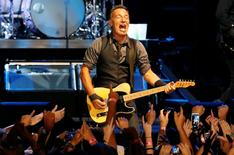 Singer Bruce Springsteen performs with the E Street Band during his concert in Cape Town, in this January 26, 2014 file photo. REUTERS/Mike Hutchings/Files