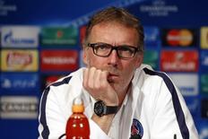 Técnico do Paris St Germain, Laurent Blanc, concede entrevista coletiva em Paris, na França, nesta terça-feira. 20/10/2015 REUTERS/Benoit Tessier