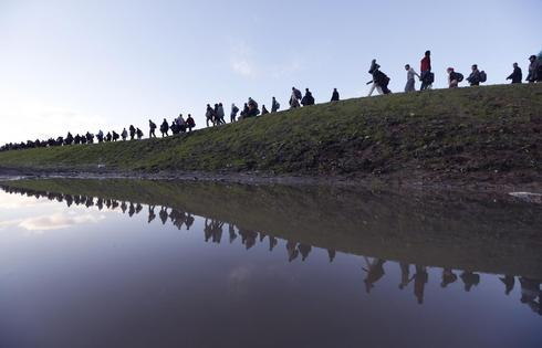 River of migrants