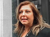 Reality TV show star Abby Lee Miller leaves at the federal courthouse after pleading not guilty to federal charges in Pittsburgh, Pennsylvania November 2, 2015.   REUTERS/Elizabeth Daley